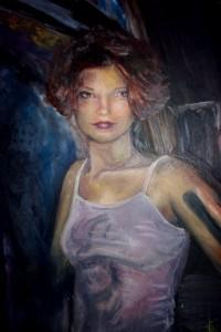 portret 60x80 olieverf op paneel
