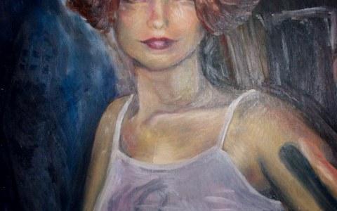 portret 60×80 olieverf op paneel